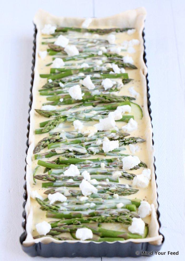 quiche met groene asperges