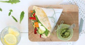 piadina met gegrilde groenten