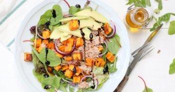 salade met zoete aardappel en tonijn