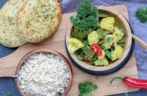 gele bloemkool curry