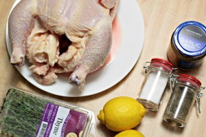 Lemon-Herb Roasted Chicken requires just a whole chicken, olive oil, lemon, herbs, garlic, salt and pepper, and is super easy and tastes delicious!