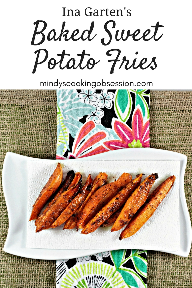 Ina Garten's Baked Sweet Potato Fries are super simple. Sweet potatoes, olive oil, brown sugar, salt, and pepper are all you need to make these yummy fries.