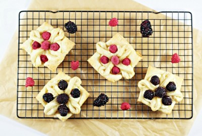 These Lemon Berry Puff Pastry Flowers use store bought pastry, cream cheese, sugar, lemon, vanilla, and fresh berries. So impressive, yet so easy!