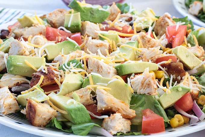 Southwest Ranch Salad With Chicken Mindy S Cooking Obsession