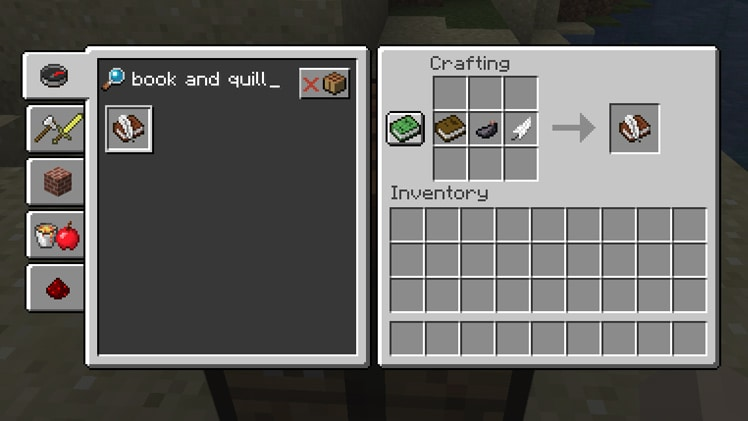 taking inventory feather minecraft