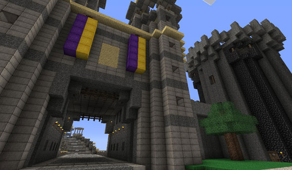 Medieval Castle, decorated by Ovo's Rustic Texture Pack.