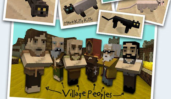 village people using the jolicraft texture pack