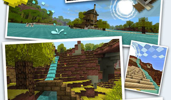 collage to the diferents views of jolicraft texture pack 1.10 and 1.9