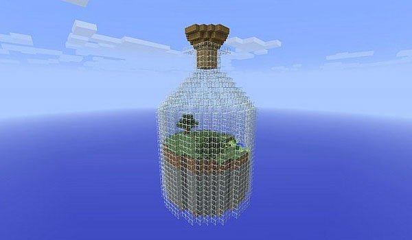 World in a Jar Survival Map for Minecraft 1.6.4
