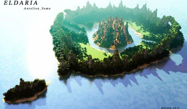 Eldaria Island Map for Minecraft 1.6.2