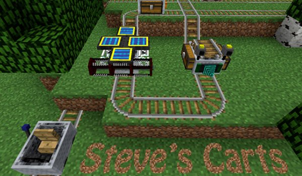 Steve's Carts 2 Mod for Minecraft 1.6.2 and 1.6.4