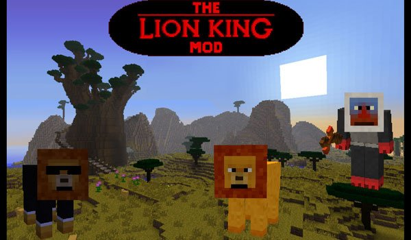 The Lion King Mod for Minecraft 1.6.2 and 1.6.4
