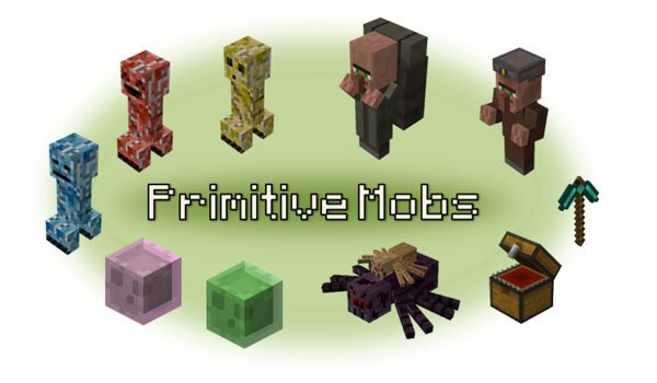 Primitive Mobs Mod for Minecraft 1.7.2 and 1.7.10
