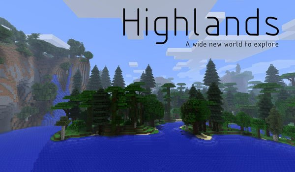 Highlands Mod for Minecraft 1.7.2 and 1.7.10