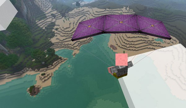 Parachute Mod for Minecraft 1.7.2 and 1.7.10