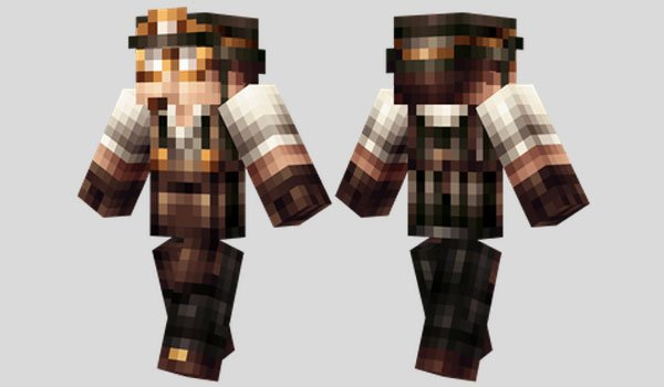 Steampunk Miner Skin for Minecraft