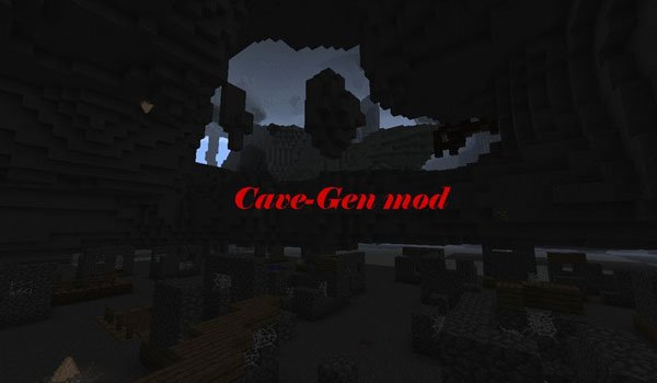 Cave-Gen Mod for Minecraft 1.6.2 and 1.6.4