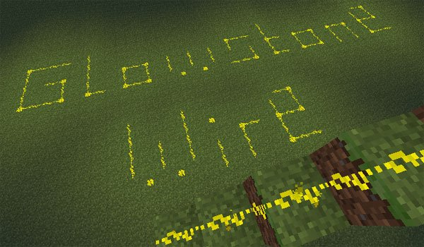 Glowstone Wire Mod for Minecraft 1.7.2 and 1.7.10