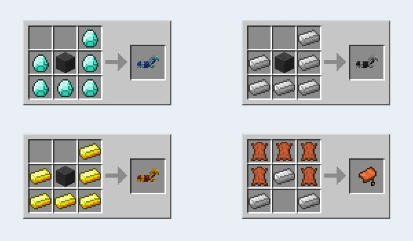 Craftable Horse Armor Mod for Minecraft 1.7.2 and 1.7.10