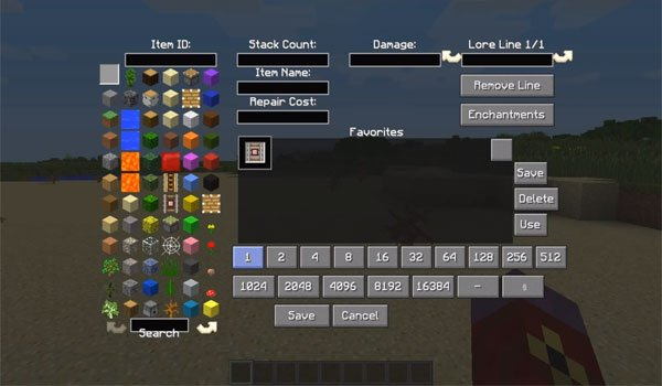 All-U-Want Inventory Editor Mod for Minecraft 1.7.2 and 1.7.10