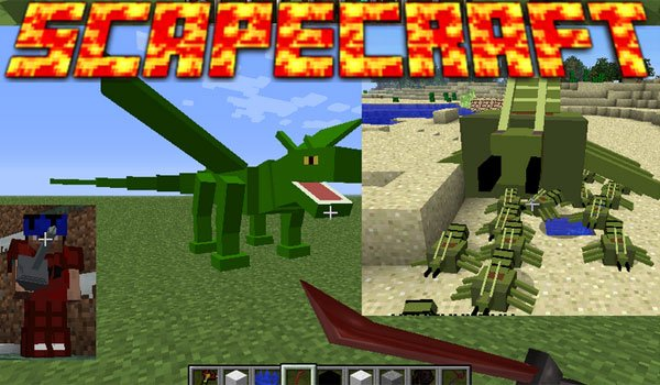 Scapecraft Mod for Minecraft 1.6.2 and 1.6.4