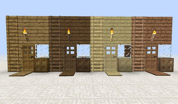 image where we see a sample of the new blocks of various types of wood that can use multi colored things 1.6.2.