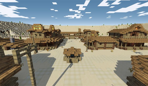 image of the town where the story of desperado adventure map.