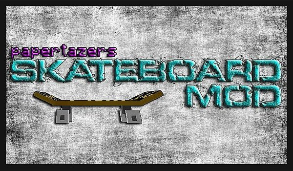 Skateboard Mod for Minecraft 1.6.2 and 1.6.4