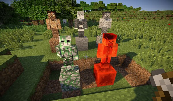 Statues Mod for Minecraft 1.6.4