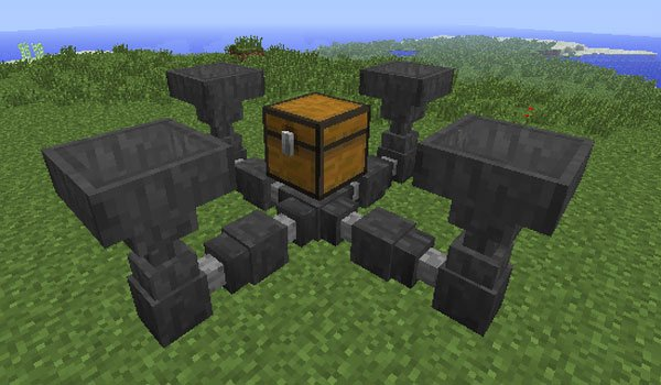 Hopper Ducts Mod for Minecraft 1.7.2 and 1.7.10