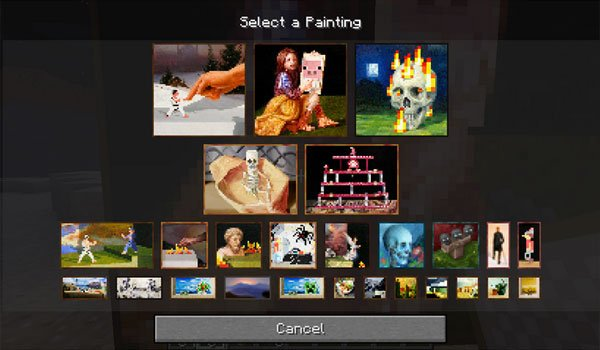 Painting Selection GUI Mod for Minecraft 1.7.2