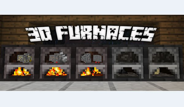 3D Furnace Mod for Minecraft 1.7.2 and 1.7.10