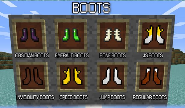 Mo' Boots Mod for Minecraft 1.7.2 and 1.7.10