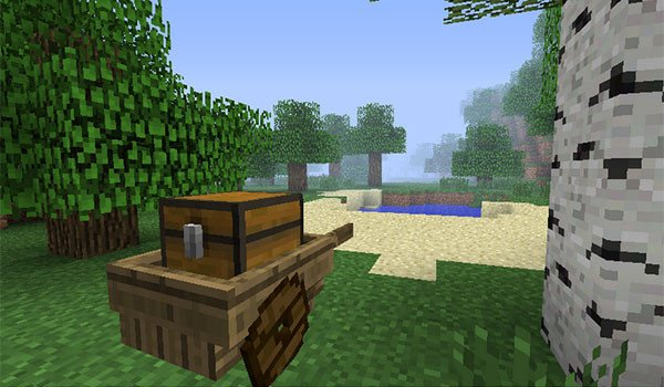Wheel Cart Mod for Minecraft 1.7.10
