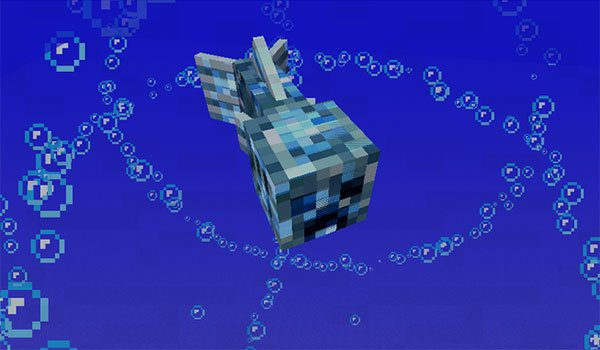 image where we see a water creeper , added by the mod aqua creepers 1.7.10 .