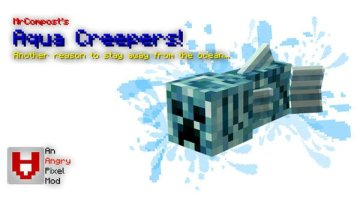 Aqua Creepers Mod for Minecraft 1.12.2
