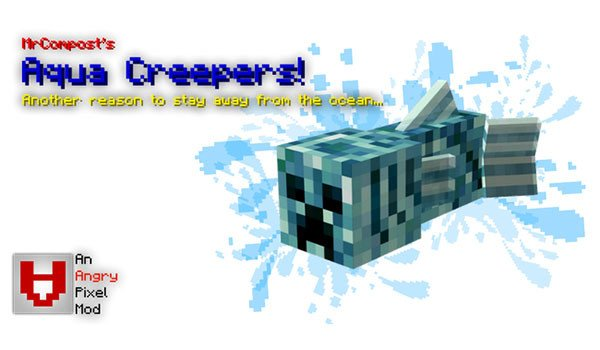 Aqua Creepers Mod for Minecraft 1.7.10