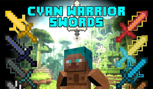 Cyan Warrior Swords Mod for Minecraft 1.7.10
