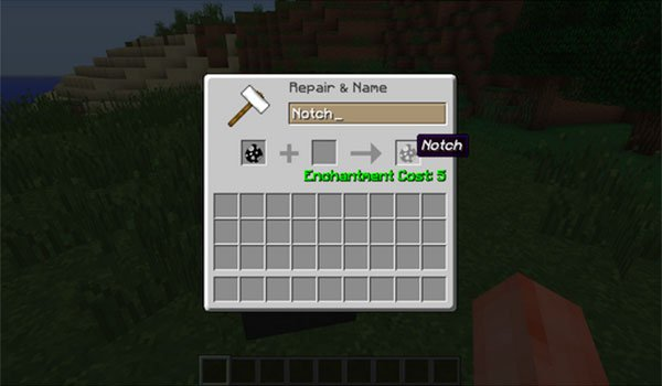 image where we can see how a character rename on the human mob mod 1.7.10 .