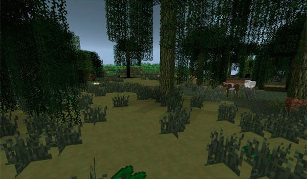 image where we see the quicksand camouflaged on the more fun quicksand mod 1.7.10.