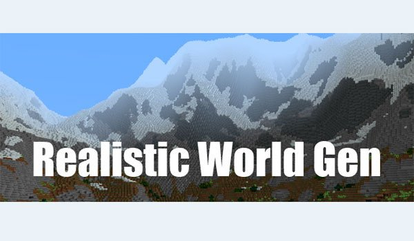 Realistic World Gen Mod for Minecraft 1.7.10