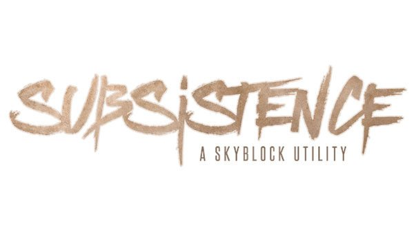 Subsistence Mod for Minecraft 1.7.10