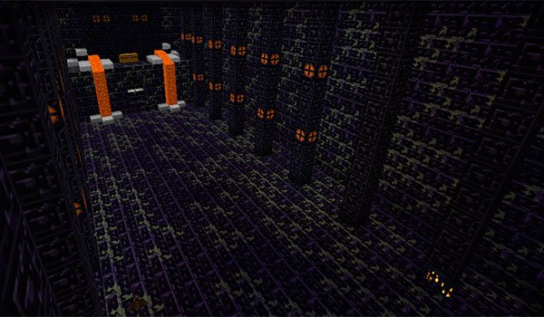 image Where You can see one of the dungeons of the infinite adventure mod 1.7.10.