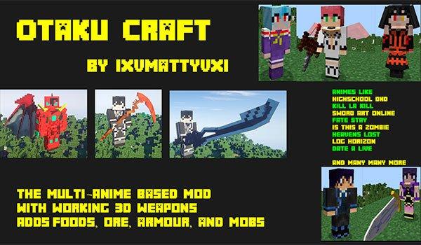 Otaku Craft Mod for Minecraft 1.7.2 and 1.7.10