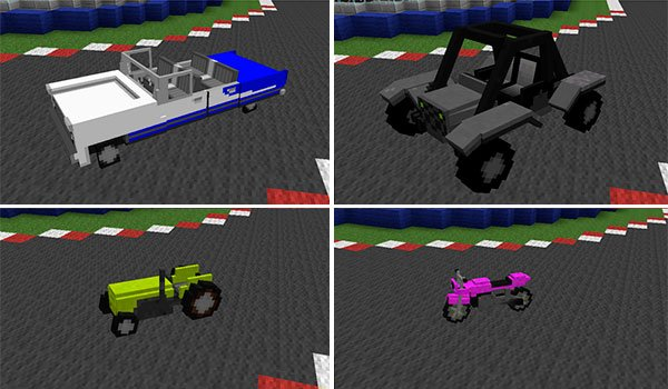 example image, we see four new vehicles.