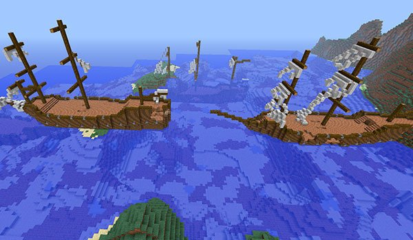 Shipwrecks Mod for Minecraft 1.7.10 and 1.7.2