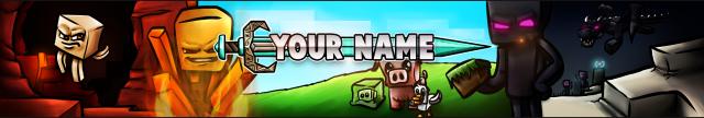 Free Minecraft YouTube Banner Template Screenshot