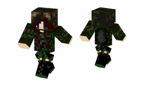 Camo Girl Skin Minecraft Skins