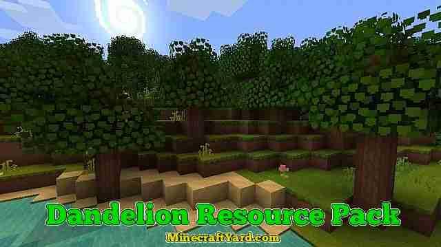 Dandelion Resource Pack 1.13.1/1.13/1.12.2