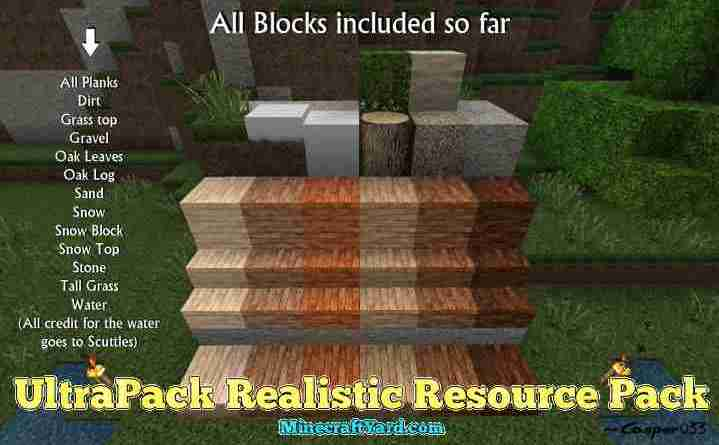 UltraPack Realistic Resource Pack 1.16.5/1.15.2